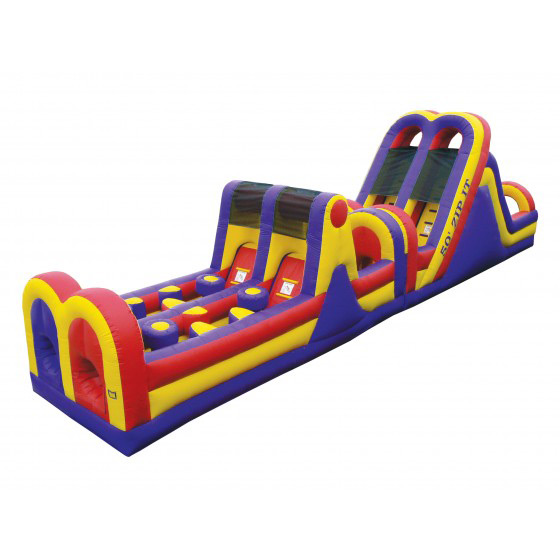 Inflatable Slide Rental Prices: 50' Zip-It Obstacle Course
